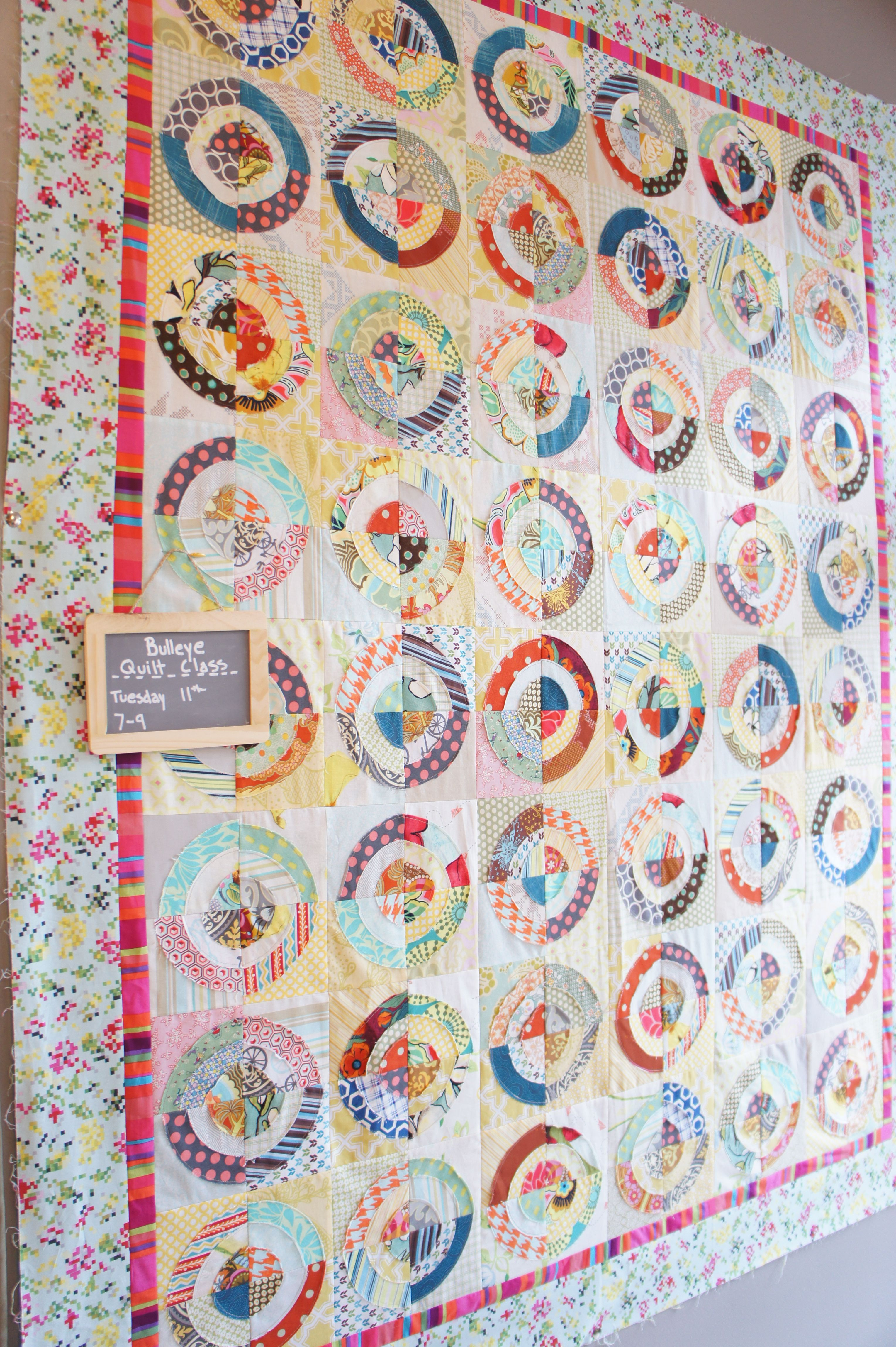 Aunt Amy Bullseye Quilt, pattern by Country Threads--a modern ... : country threads quilt shop - Adamdwight.com