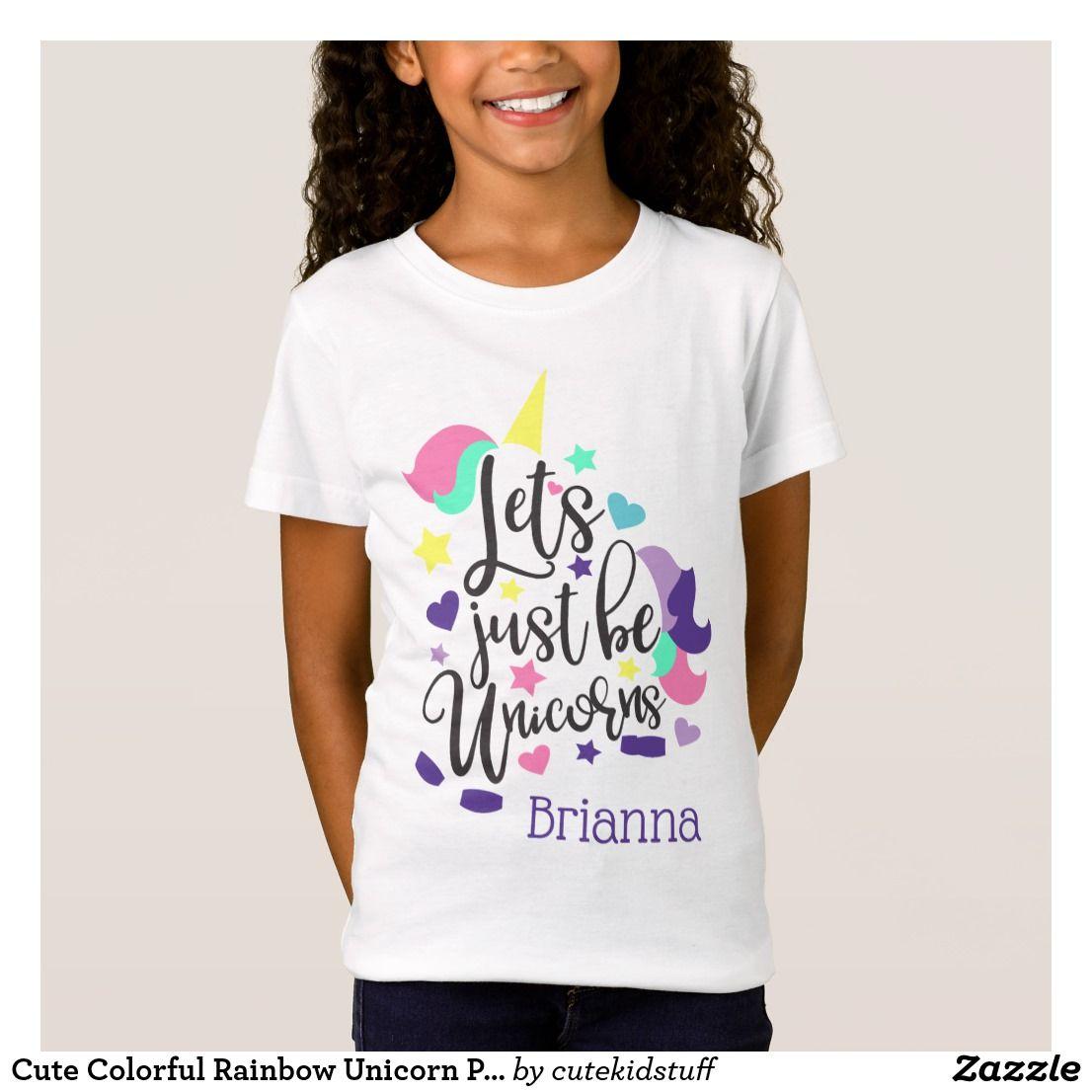Cute Colorful Rainbow Unicorn Personalized T Shirt Birthday Girl T Shirt Personalized T Shirts Cool T Shirts,2018 Grand Design Solitude 375res