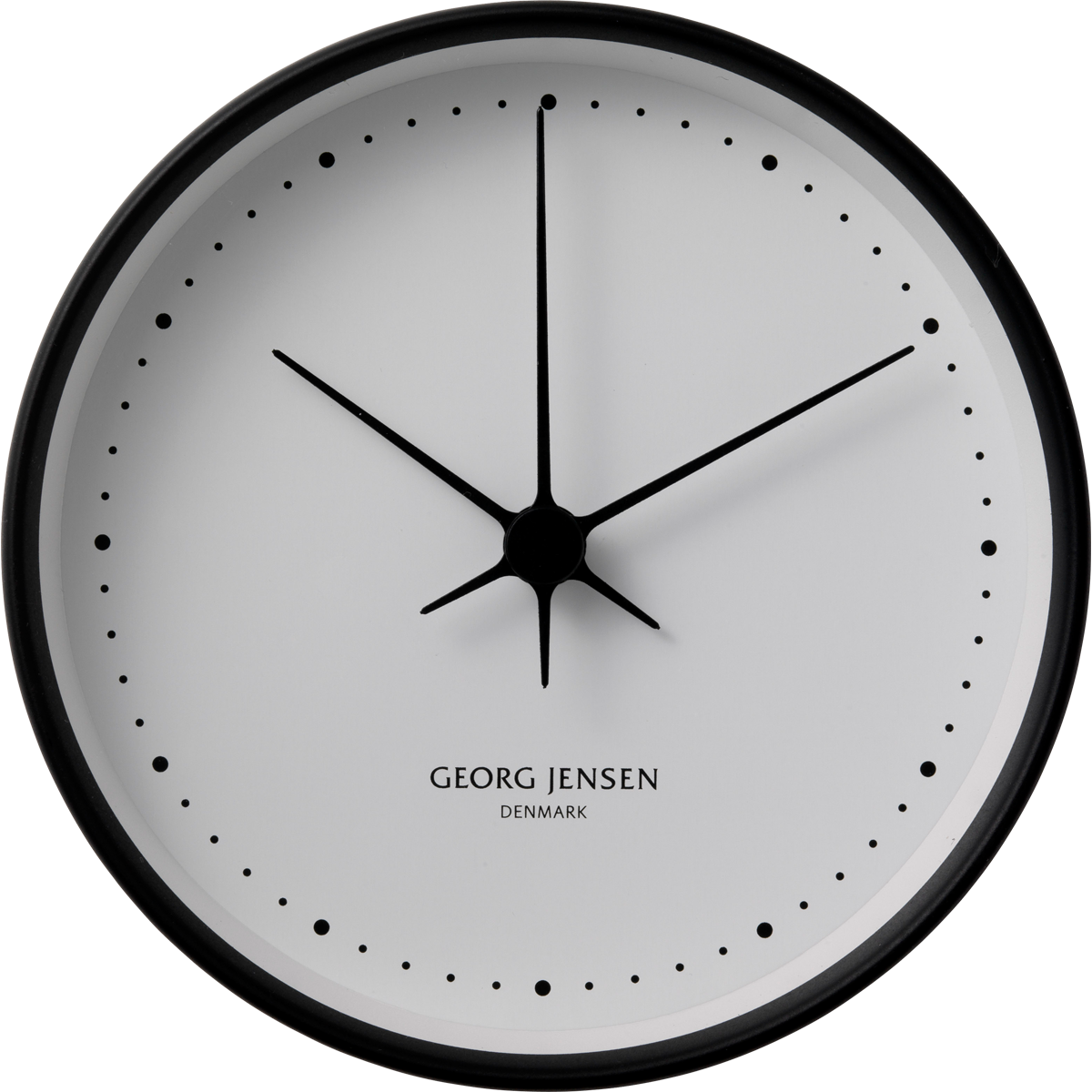 Koppel 10 Cm Wall Clock Black With White Dial By Georg Jensen Black Wall Clock Wall Clock Clock