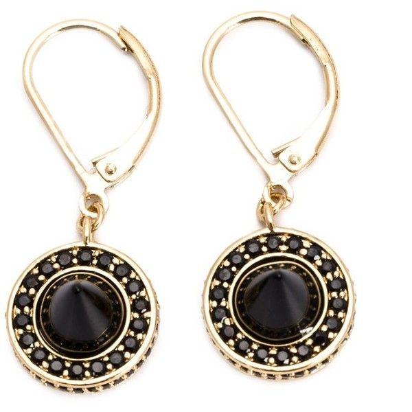 Eddie Borgo embellished drop earrings (710 BRL) ❤ liked on Polyvore featuring jewelry, earrings, black, drop earrings, eddie borgo jewelry, fish hook jewelry, fish hook earrings and eddie borgo earrings
