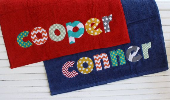 Personalized Towel - Great for the beach, pool or bath - name applique