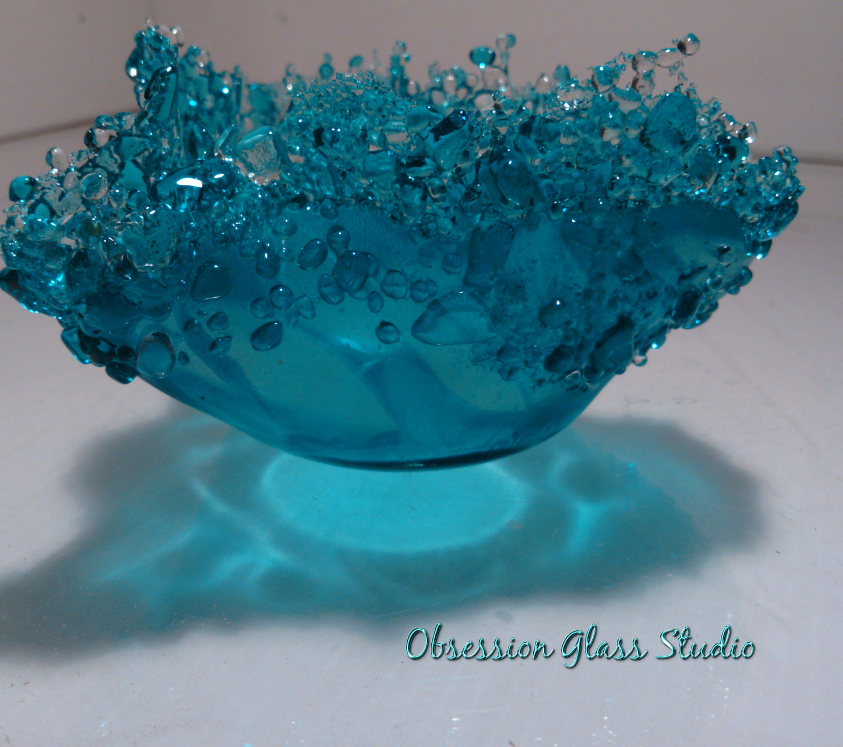 Frit bowl Fused glass dishes