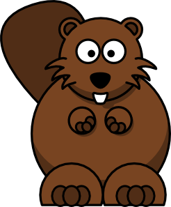 cartoon beaver clip art vector clip art online royalty free rh pinterest com beaver animal clipart free beaver clipart