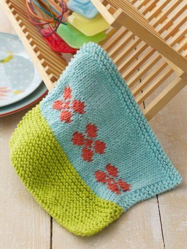 Garden Grows Dishcloth | Yarn | Free Knitting Patterns | Crochet ...