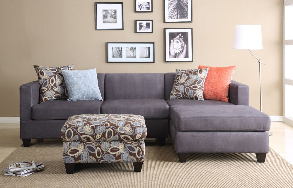 Living Room Decor Grey Sofa, Apartment Sized Furniture