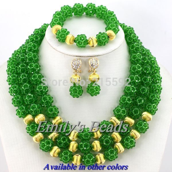 Cheap Jewelry Sets, Buy Directly from China Suppliers:African Costume Jewelry Set 3 Layers Crystal Balls Necklace Jewelry Set Nigerian Wedding Bridal Necklace Free Shipping&n