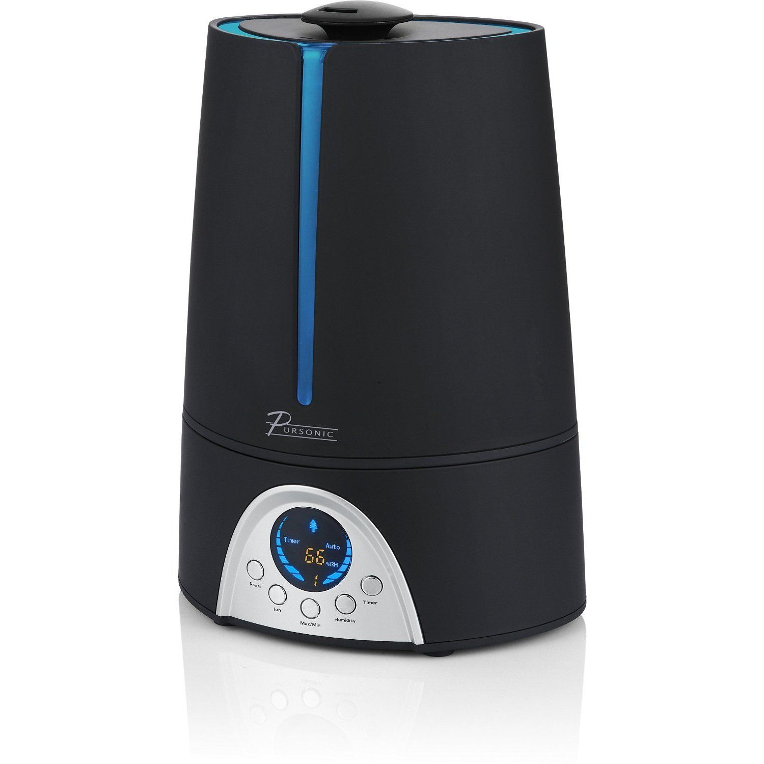 Pursonic Hm310 Ultrasonic Cool Mist Humidifier With Built In Ionizer And Led Screen With Digital Humidity Display Ultrasonic Cool Mist Humidifier Humidifier Cool Mist Humidifier