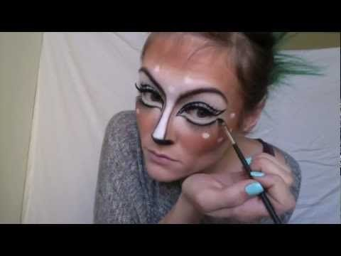 Deer Makeup #halloween #costume #makeup #facepaint #face #paint - face painting halloween makeup ideas