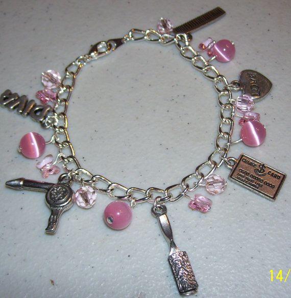 Las Cosmetologist Hair Stylist Charm Bracelet By Mommazart 20 00