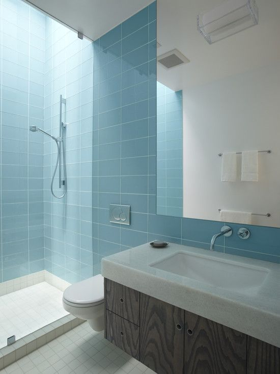 Perfect Elegant Bath Designs with Wooden and Glass Combination: Charming  Contemporary Bathroom Glass Tile Backsplash
