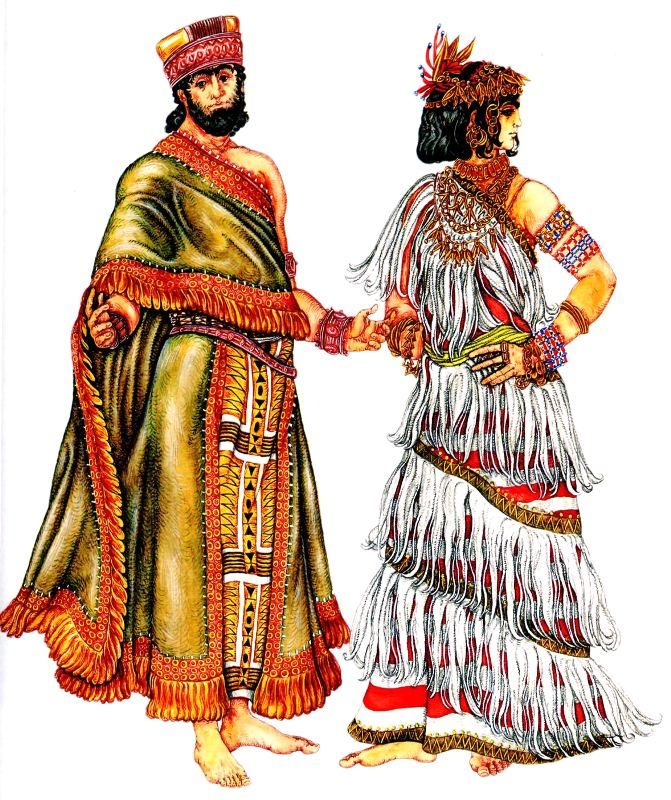 Suit Sumerian king and Sumerian woman | Ancient ...