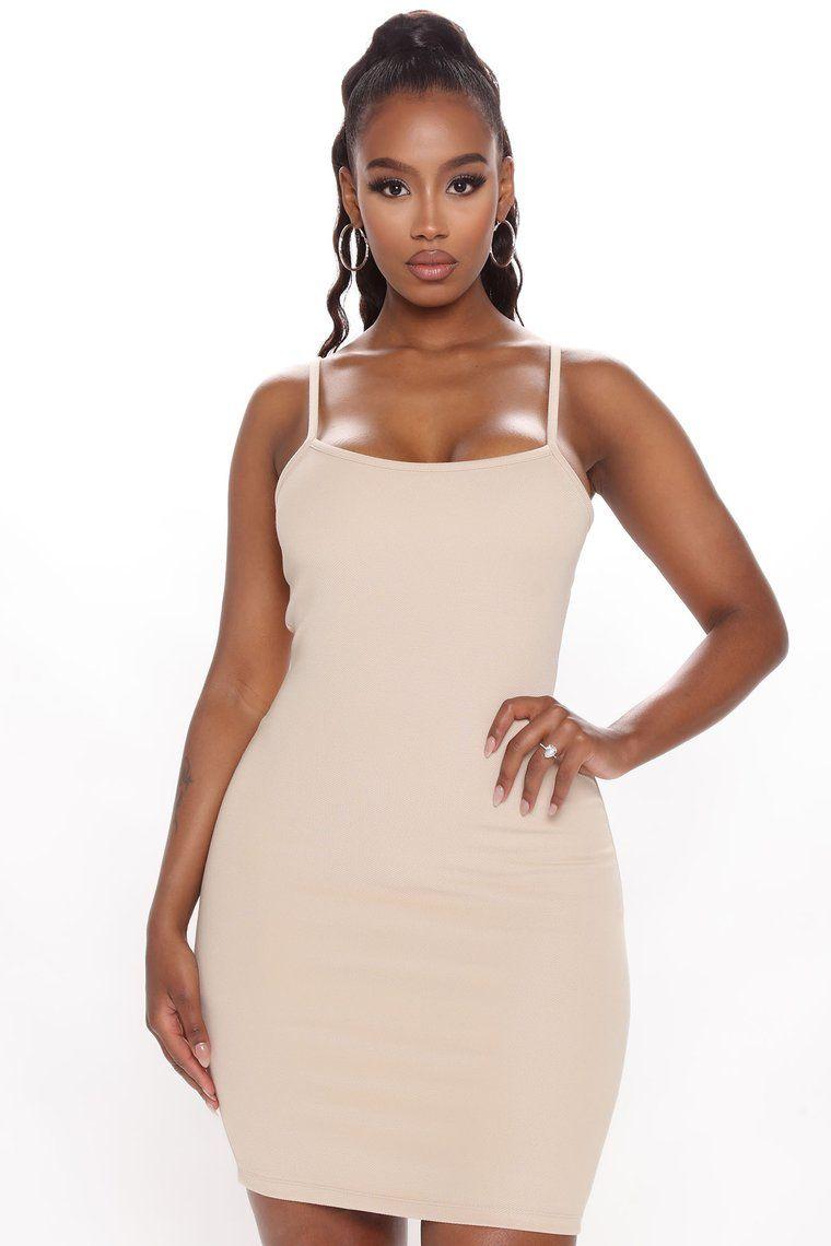 Go With Anything Mini Dress Tan Tan Mini Dress Fashion White Mini Dress [ 1140 x 760 Pixel ]