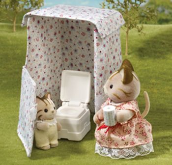 Sylvanian families & Toilet Tent for Campervan - Ref: O15 | The Sylvanian Family ...