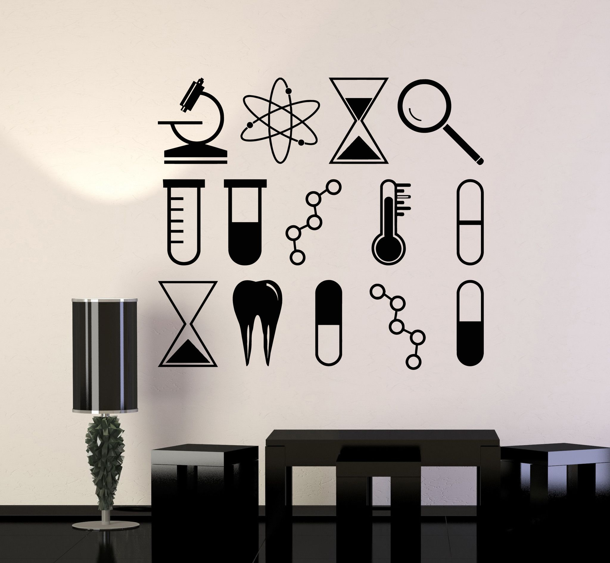 Vinyl Wall Decal Science University School Laboratory Chemistry - Locations where sell wall decals