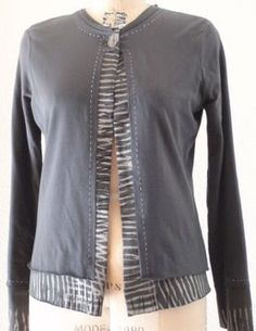 T-shirt jacket. Very cool double layer look. Use 2 interesting prints, print n stripe, or print n solid color.