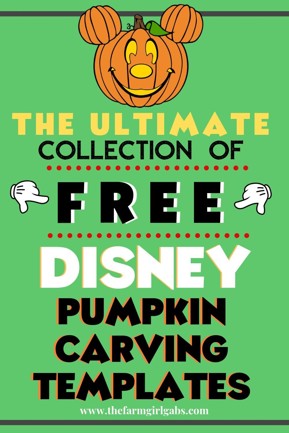 The Ultimate Collection of FREE Disney Pumpkin Carving Templates