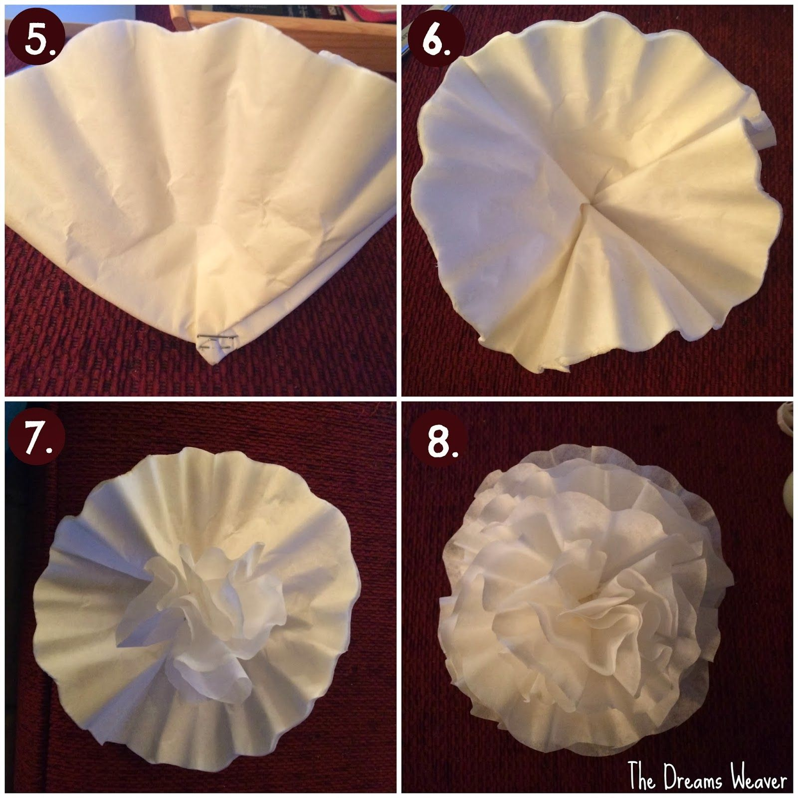 Coffee Filter Flowers The Dreams Weaver Crafts Pinterest