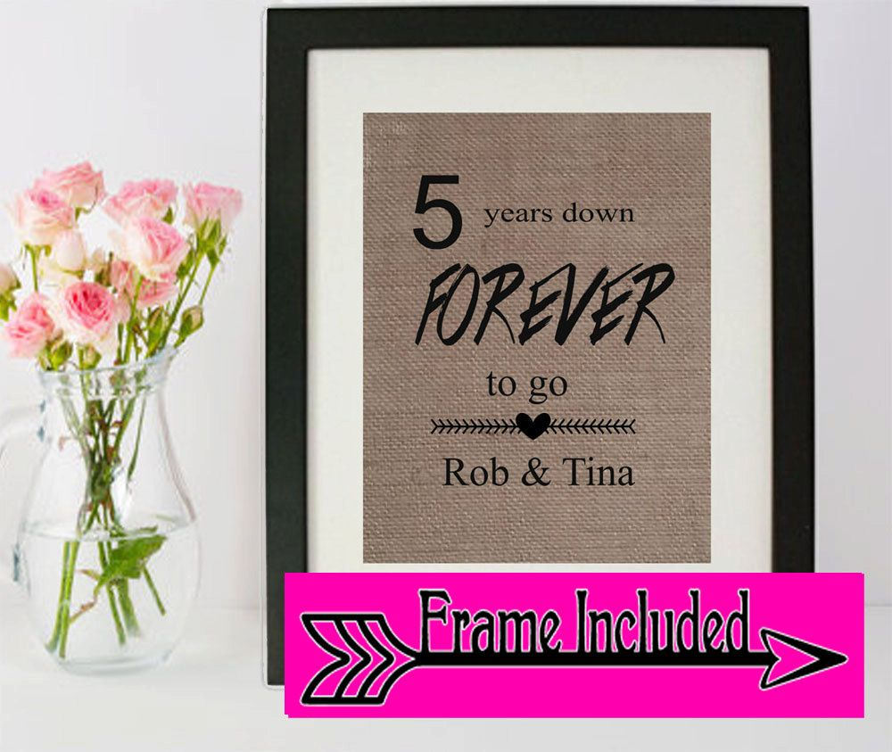 5 Year Anniversary Anniversary Gift Anniversary Frame Home Decor Gift For Husband Ann 10th Wedding Anniversary Gift Anniversary Gifts Marriage Anniversary