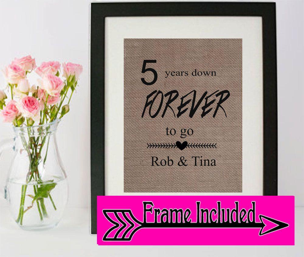 5 year anniversary anniversary gift anniversary frame
