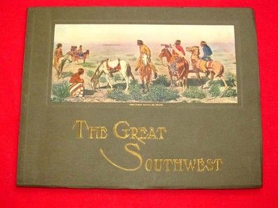 1921 The Great Southwest Along The Santa FE Fred Harvey American Indian Prints