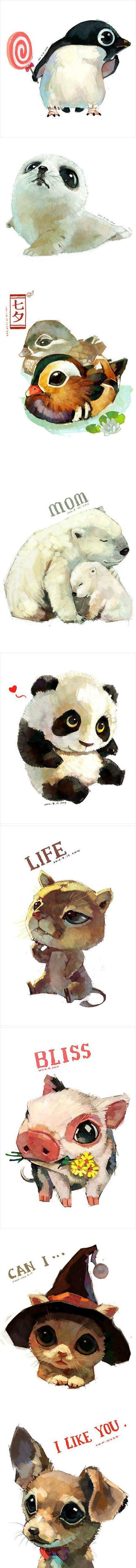 30 illustrations graphiques autour des animaux - Inspiration graphique #9...So cute animal♡