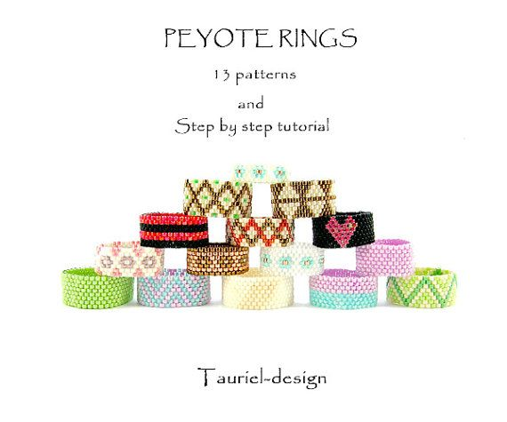 Peyote rings 13 patterns by Tauriel on Etsy