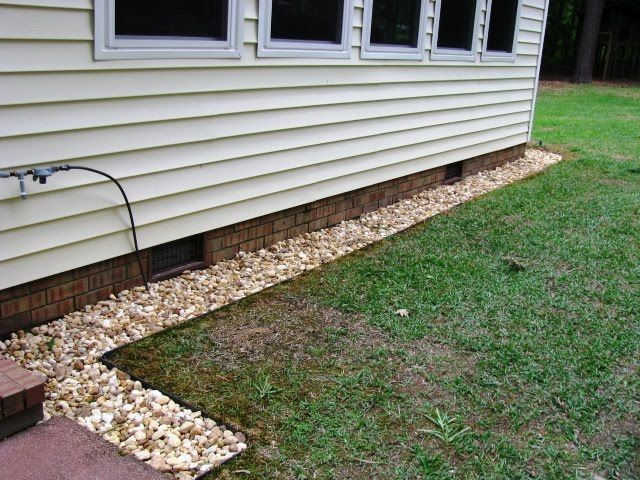 Landscaping Around Home Foundation : House foundation garden river rocks colors landscape