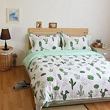 smartness better homes and gardens bedding. Amazon com  LELVA Cactus Print Bedding Set Cotton Duvet Cover Kids Beddng