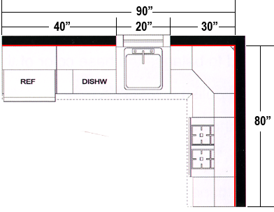 L Shaped Kitchen Layout Dimensions l shape kitchen measurement | a holding folder | pinterest