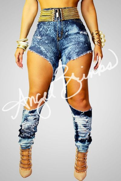 Exposed Destroyed Jeans | Angel Brinks