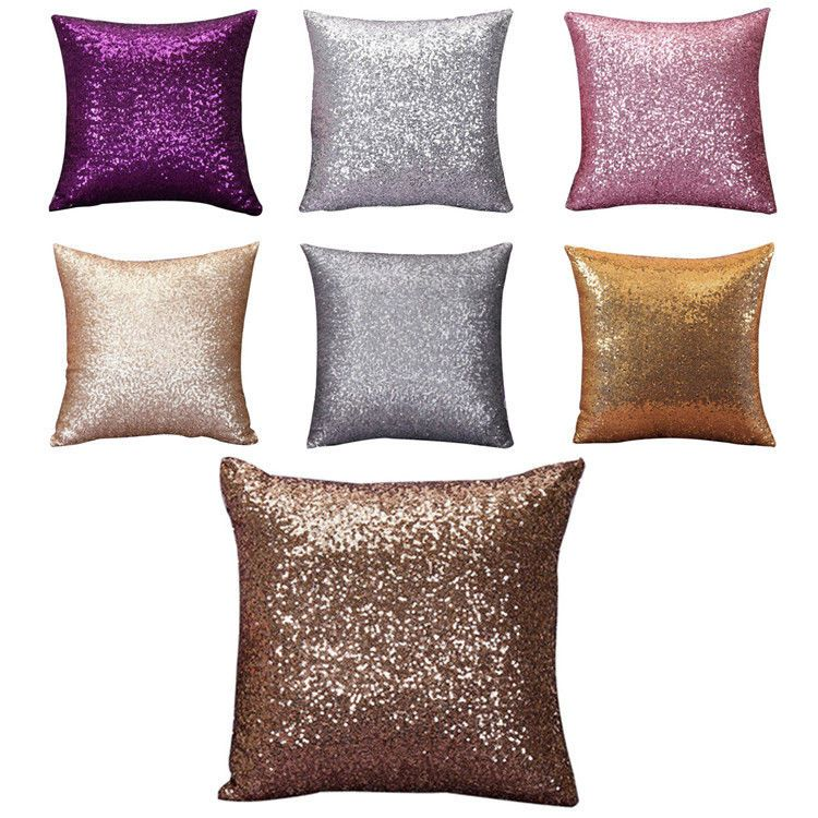 Home Super Shine Small Sequins Throw Pillow Case Cushion Covers Mesmerizing Small Decorative Throw Pillows
