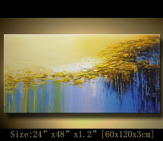 Abstract Large ORIGINAL Painting Modern Textured by xiangwuchen ...