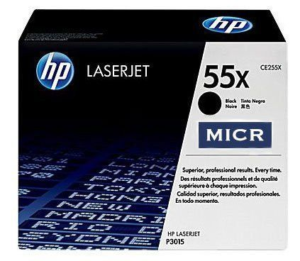 Genuine HP 55X | CE255X OEM MICR Toner Cartridge