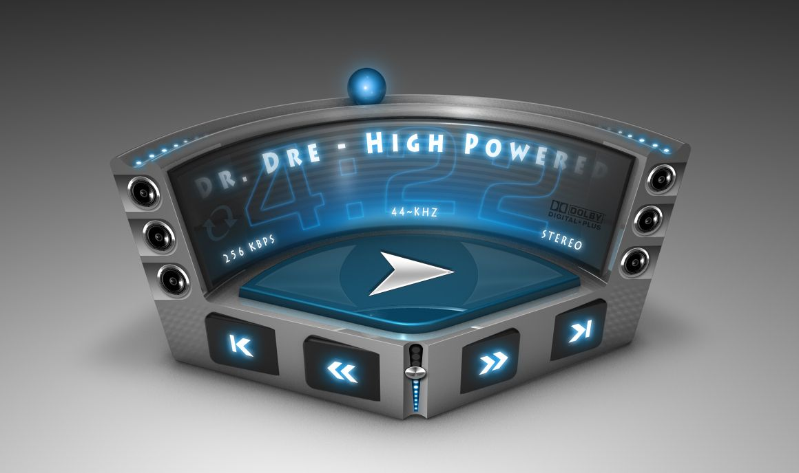 3D Music Player UI by mycort.deviantart.com on @deviantART