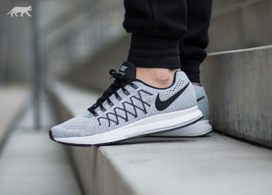 235f2ede2252 Nike Air Zoom Pegasus 32 (Pure Platinum   Black - Dark Grey)
