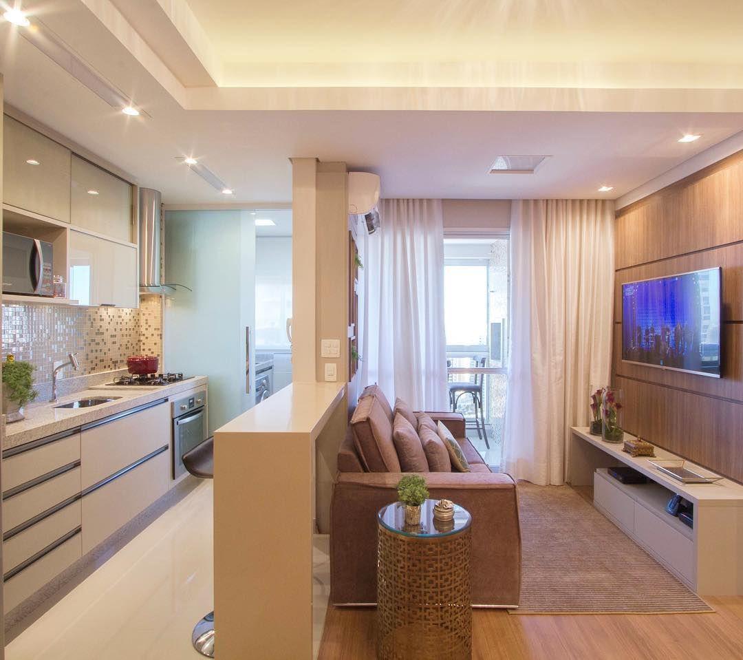 6 132 Likes 146 Comments Marianebaptistamarildabaptista  -> Sala E Cozinha Integrada Como Decorar