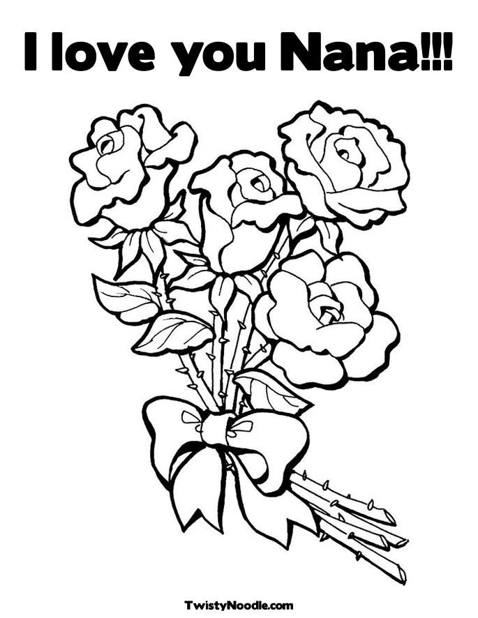 Nana Coloring Pages Happy Birthday Nana Love
