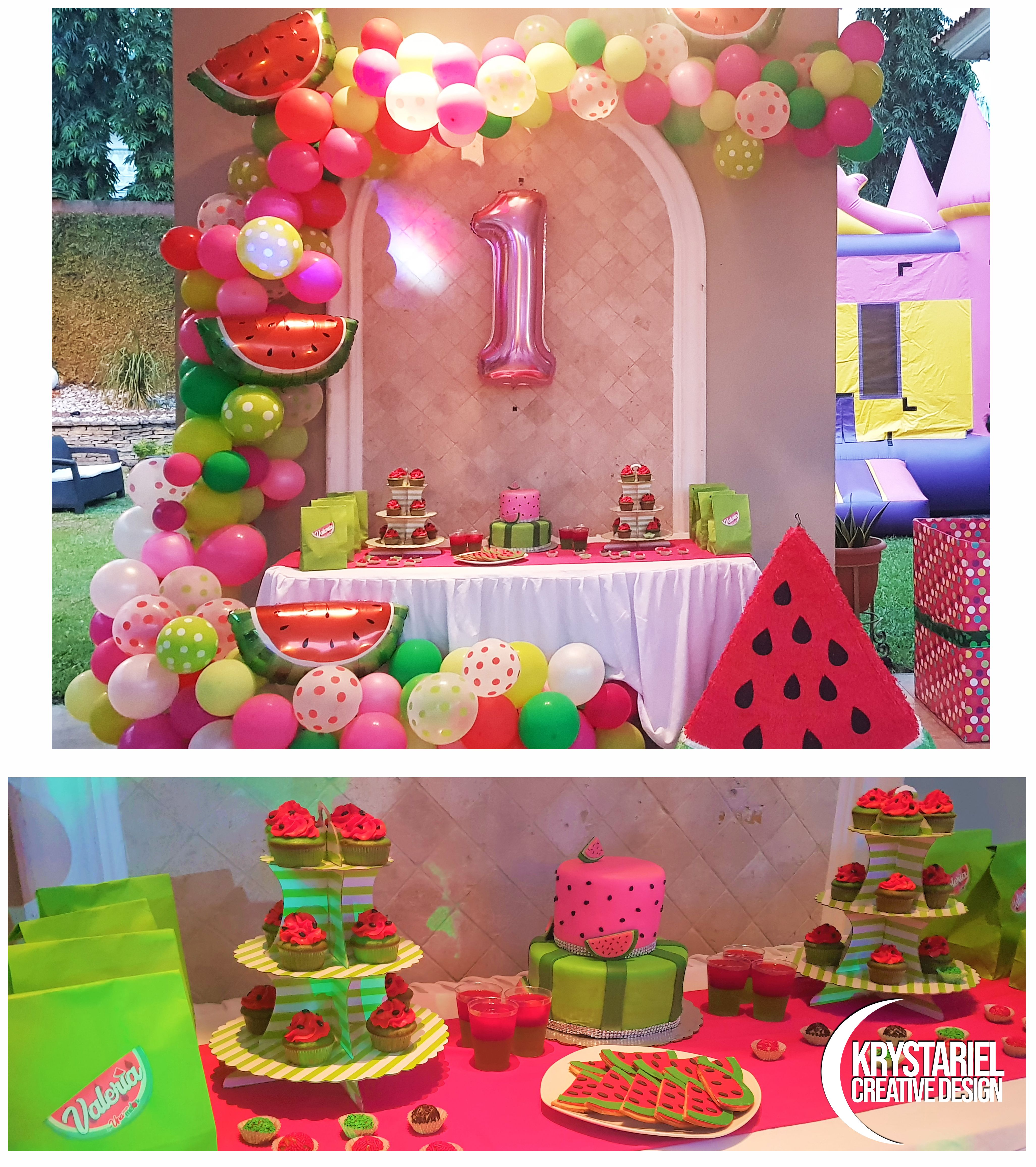 First Birthday Party Celebration With Watermelon Theme By