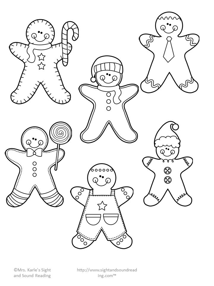Gingerbread Man Cutout Activity