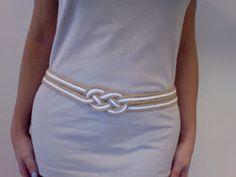 inspiration and realisation: DIY fashion blog: sailor's knot belt: a leftover story