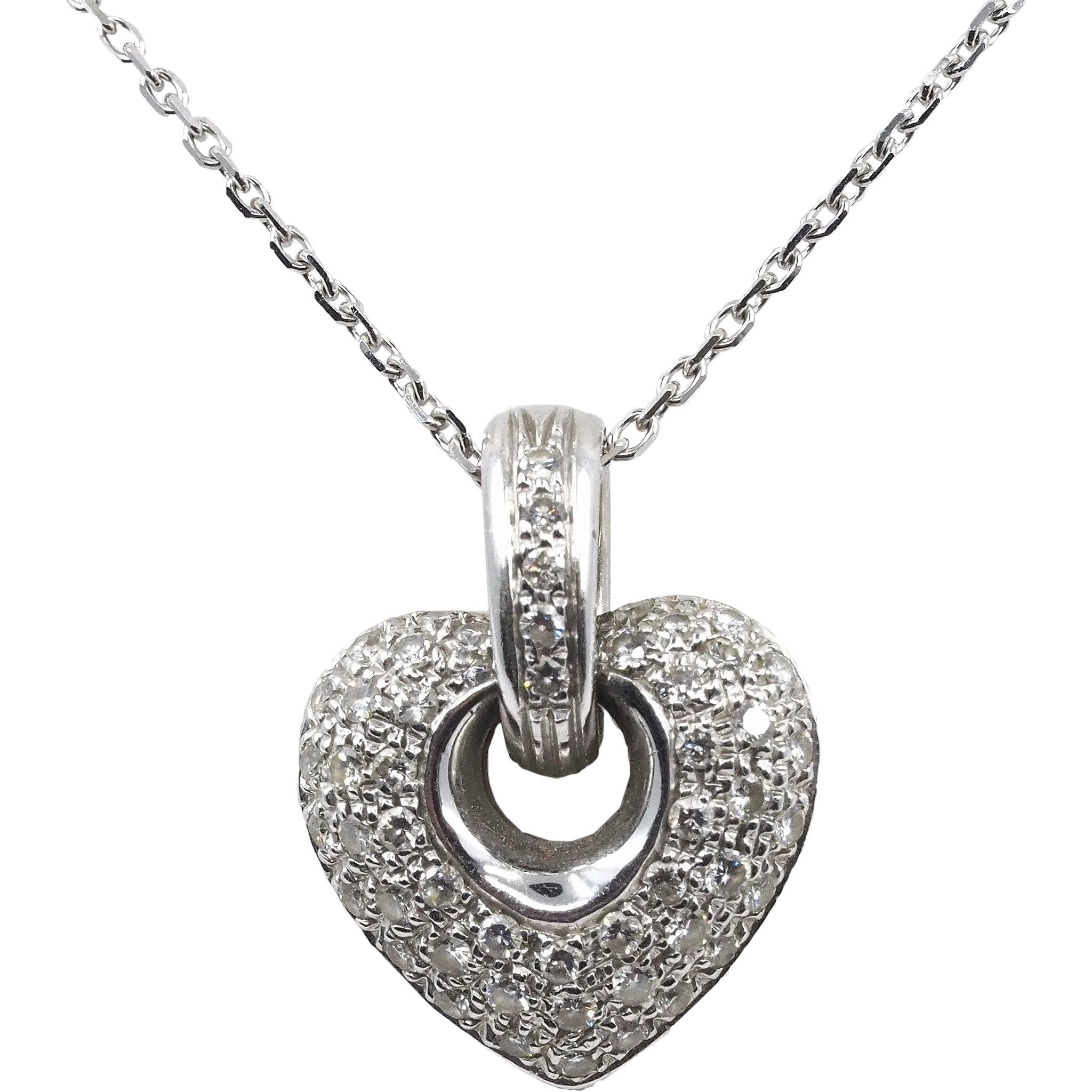 18K solid gold pendant covered with diamonds 750 solid ...