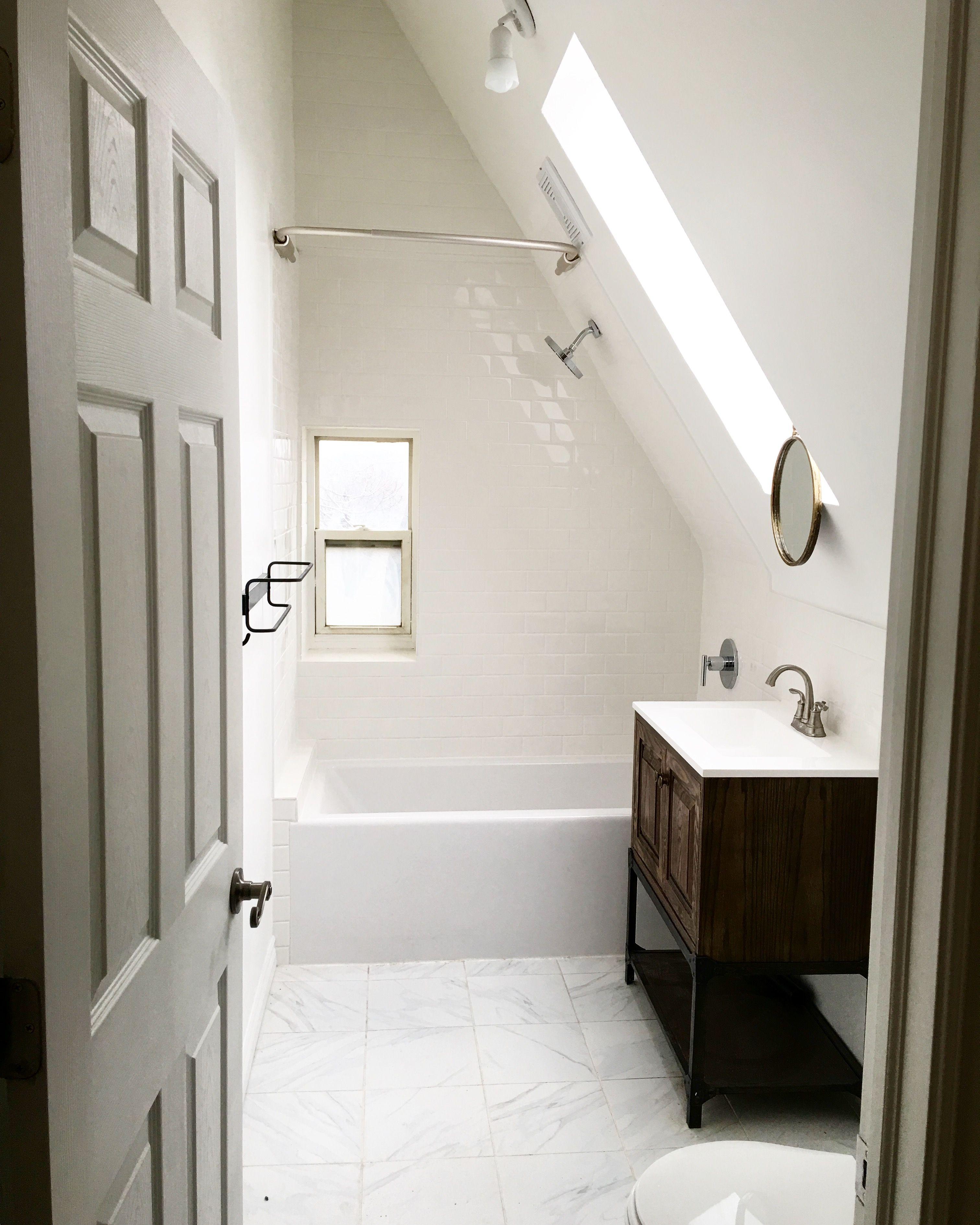 Attic bathroom inspired by Pinterest.   Bathroom   Pinterest   Attic ...
