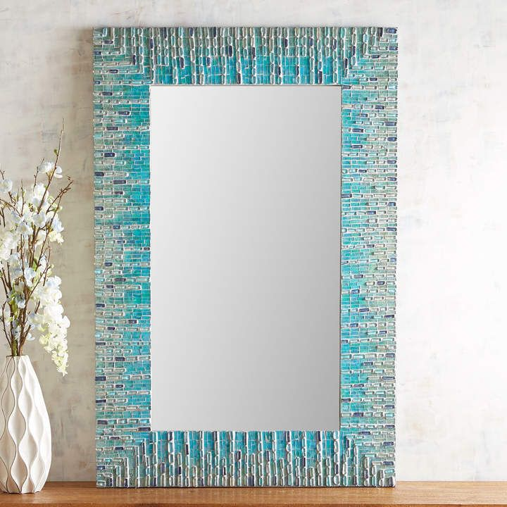 Pier 1 Imports Sea Glass Mosaic Mirror | Glass mosaic ...