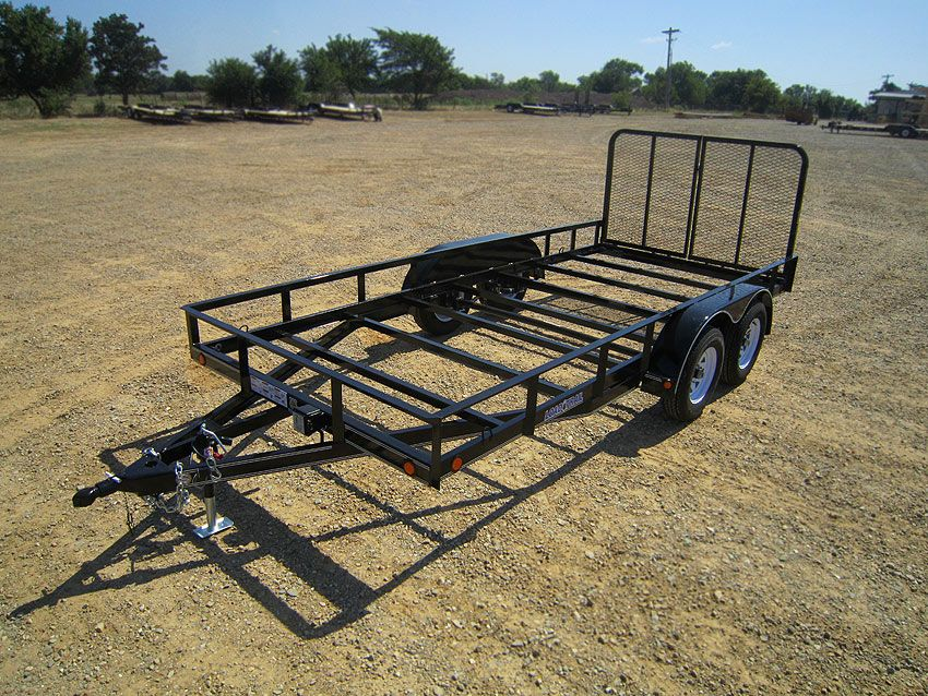 Tandem Axle Utility 7 000 Lb W 4 Quot Channel Frame Load Trail