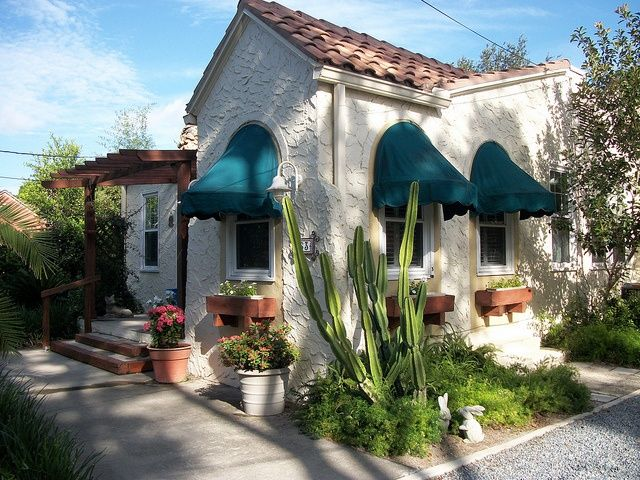 Houses With Awnings In Front Front Of House With Awnings Via Flickr Bungalows Pinterest House Front Better Homes And Gardens Curb Appeal