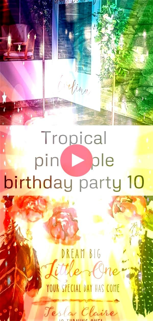 birthday party 10 Copper Photo Frame from a Tropical Pineapple Birthday Party on Karas Party Ideas  14 Boho Dream Catcher First Birthday Invitation Floral Dreamcatcher Bi...