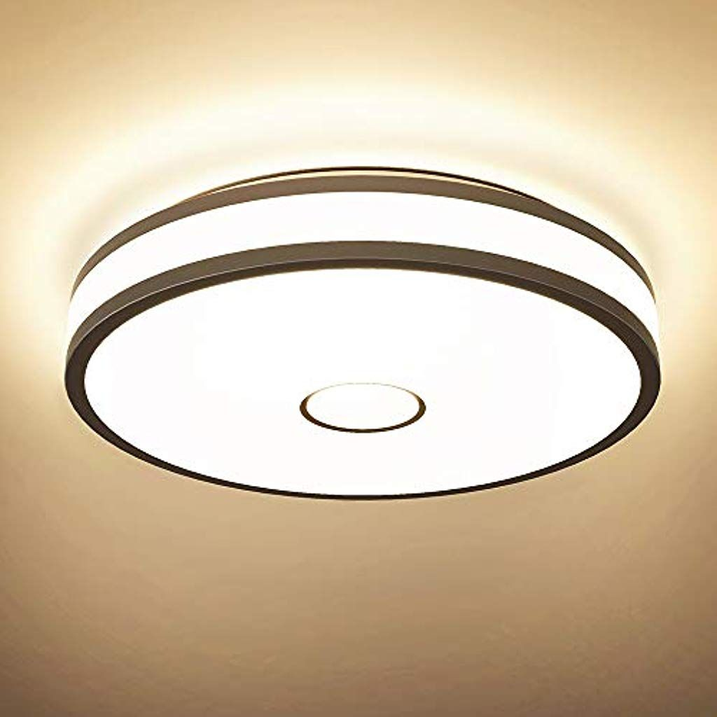 Onforu 32w Led Deckenleuchte 2800lm Ip65 Led Deckenlampe Cri90 2700k Warmweiss Wohnzimmerlampe Ersetzt 300w Led Deckenleuchte Beleuchtung Decke Led Deckenlampen
