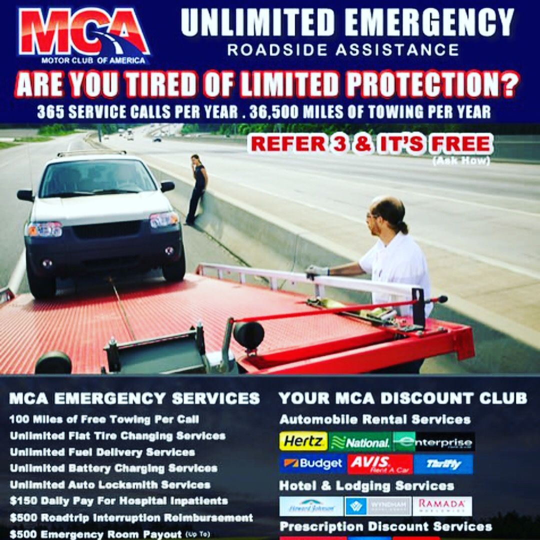 Mca Road Side Assistance Includes Fuel Delivery When You Run