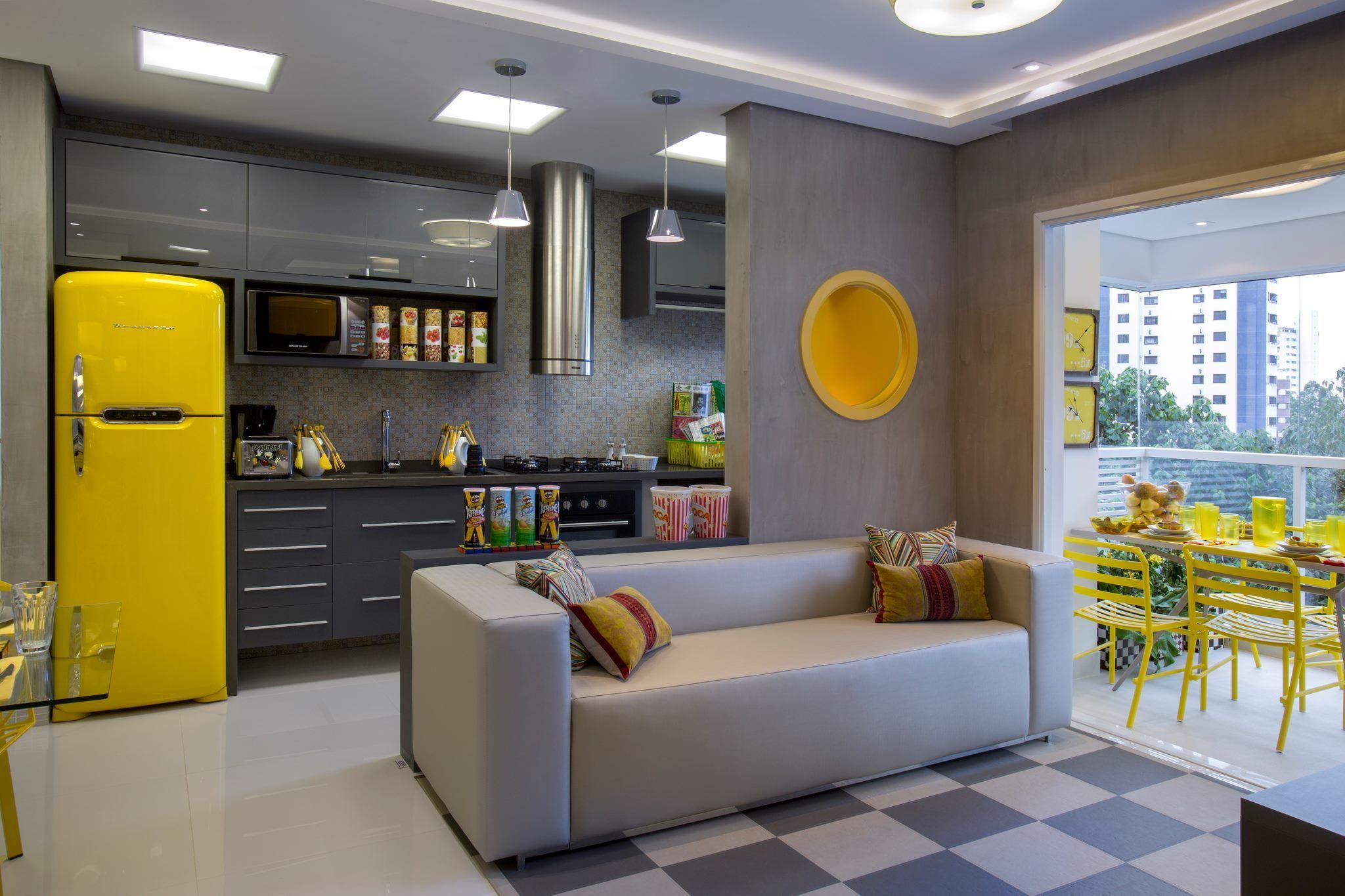 Arm Rio Cinza Com Nicho E Parte De Vidro Cozinha Sala Cozinhas