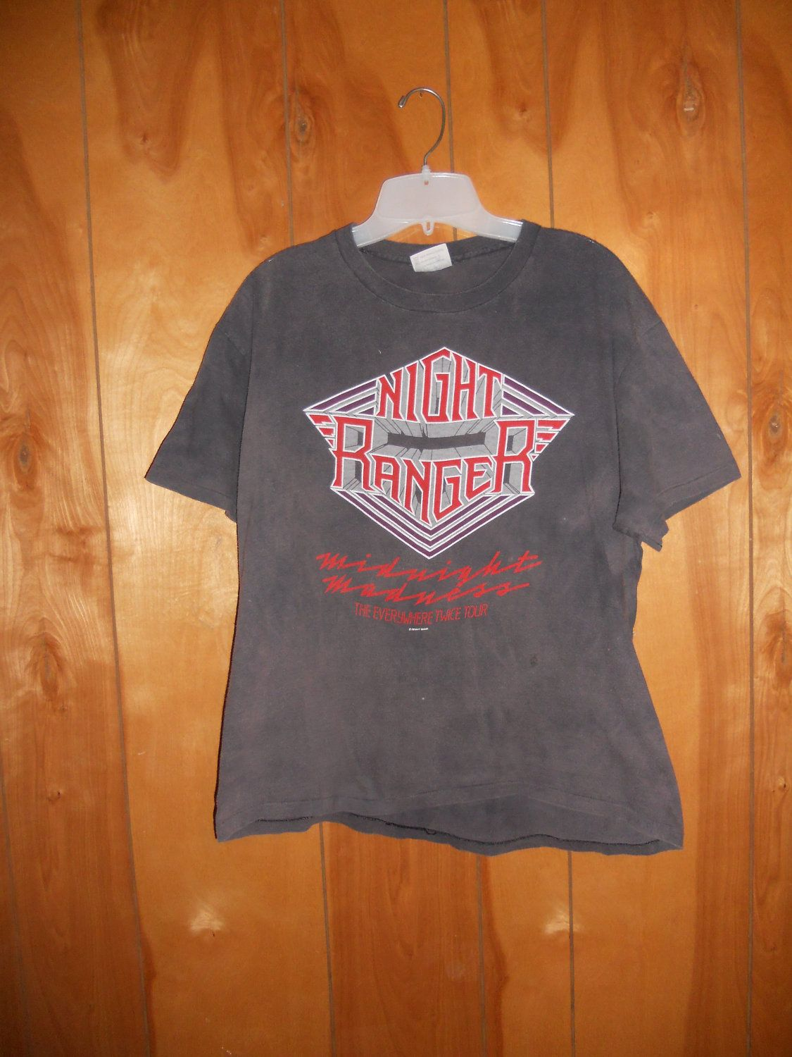 Vintage 80s Night Ranger concert band tour t shirt hard rock
